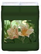 Two Lilies Cutout Duvet Cover