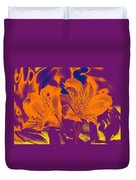 Two Lilies Gradient Duvet Cover