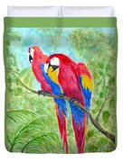 Two Macaws Duvet Cover