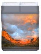 Sinopah Mountain And Two Medicine Lake Sunrise Glacier National Park Montana Duvet Cover