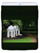 Two Meditating Cupolas In Fort Canning Park Singapore Duvet Cover