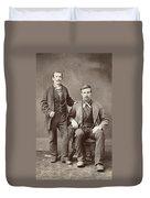 Two Men, 19th Century Duvet Cover