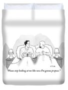 Two Men Are In Bed Together. One Duvet Cover by Emily Flake