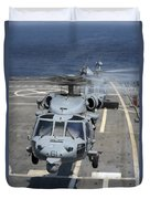 Two Mh-60s Sea Hawk Helicopters Take Duvet Cover