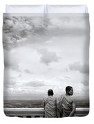 Two Monks Duvet Cover