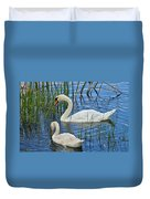 Two Mute Swans Duvet Cover