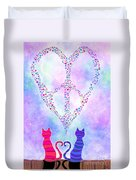 Two Of Hearts Duvet Cover