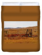 Two Old Barns Near Thorp  Wa Duvet Cover
