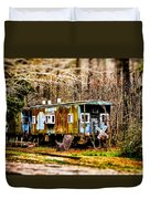 Two Old Cabooses Duvet Cover