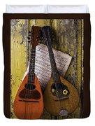 Two Old Mandolins Duvet Cover