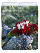 Two On A Branch Two Duvet Cover