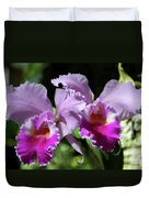 Two Orchids  Duvet Cover