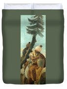 Two Orientals Seated Under A Tree Duvet Cover