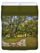 Two Paths Diverged In A Live Oak Wood...  Duvet Cover