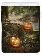 Two Pumpkins Duvet Cover