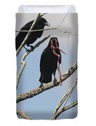 Two Raven With A Snake Duvet Cover