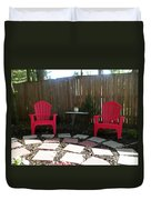Two Red Chairs Duvet Cover