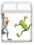 Two Red Eyed Tree Frogs Duvet Cover