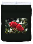 Two Red Roses Duvet Cover