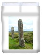 Two Ring Of Brodgar Stones Duvet Cover