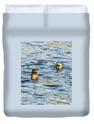 Two River Otters Duvet Cover