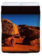 Two Rocks At Cliff Dwellers Duvet Cover