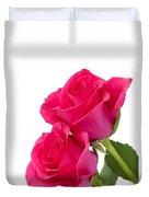 Two Roses Duvet Cover