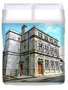 Two Rubbish Bins In Sligo Duvet Cover