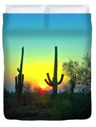 Two Saguaro Duvet Cover