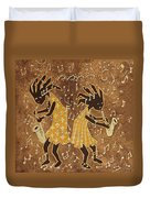 Two Sax Players Duvet Cover