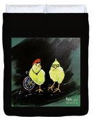 Two Smokin Hot Chicks Duvet Cover