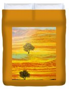 Two Sunsets In Limassol Duvet Cover