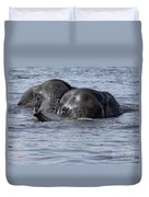 Two Swimming Elephants Duvet Cover