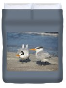 Two Terns Watching Duvet Cover