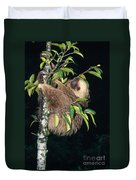 Two-toed Sloth Choloepus Didactylus Duvet Cover