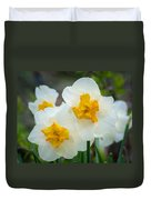 Two-toned Daffodils Duvet Cover