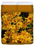 Two Toned Yellow Blooms Duvet Cover