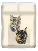 Two Torti's Duvet Cover