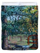Two Trees And A Gate Duvet Cover