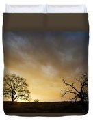 Two Trees Greeting The Sun Duvet Cover