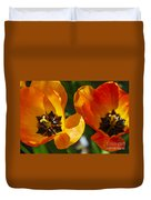 Two Tulips Duvet Cover by Elena Elisseeva