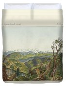 Two Views Of The Himalayas Duvet Cover