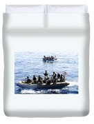 Two Visit, Board, Search And Seizure Duvet Cover