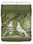 Two White Doves Duvet Cover