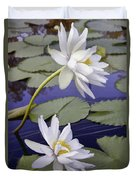 Two White Lilies Duvet Cover