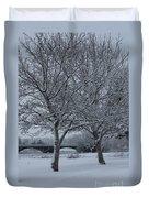 Two Winter Trees Duvet Cover