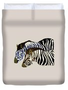 Two Zebras Duvet Cover