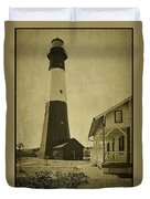 Tybee Island Light Station Duvet Cover