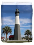 Tybee Island Lighthouse Duvet Cover