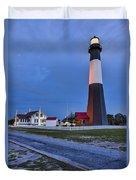 Tybee Island Night Light Duvet Cover